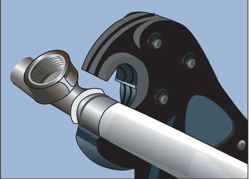 Опрессовка пресс-фитингов на металлопластиковых трубах